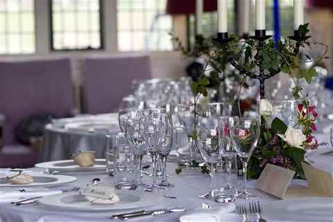 Wedding Table Arrangements at Butley Priory