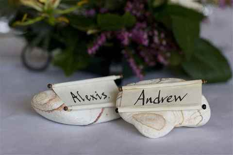 Wedding Place Cards, Bride and Groom, Butley Priory