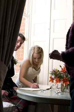 Signing the Register, Butley Priory