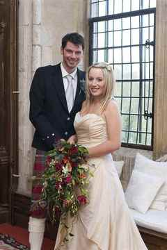 bride and groom in Butley Priory