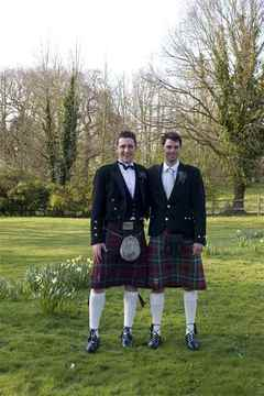 The Groom and Best Man, Butley Priory