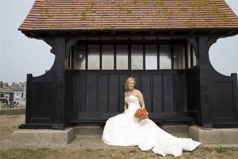 The Bride at a wedding at Aldeburgh Parish Church, Suffolk