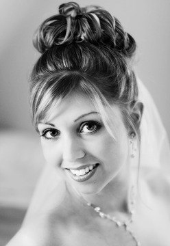portrait of bride on the wedding day